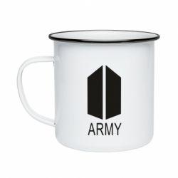 Кружка емальована Bts army