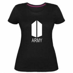Жіноча стрейчева футболка Bts army