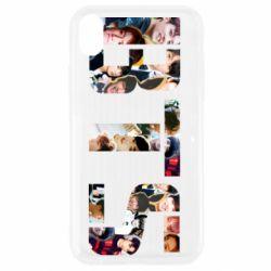 Чехол для iPhone XR BTS collage