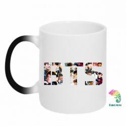 Кружка-хамелеон BTS collage