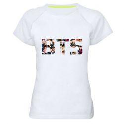 Женская спортивная футболка BTS collage
