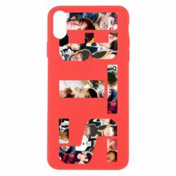 Чехол для iPhone X/Xs BTS collage