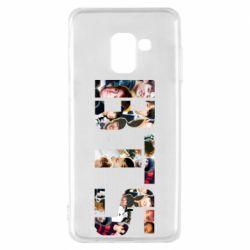 Чехол для Samsung A8 2018 BTS collage