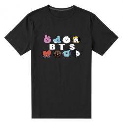 Чоловіча стрейчева футболка Bts emoji