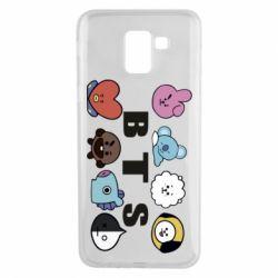 Чохол для Samsung J6 Bts emoji
