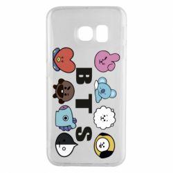 Чохол для Samsung S6 EDGE Bts emoji