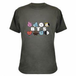Камуфляжна футболка Bts emoji