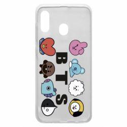 Чохол для Samsung A20 Bts emoji