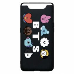 Чохол для Samsung A80 Bts emoji