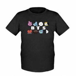 Дитяча футболка Bts emoji
