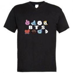 Чоловіча футболка з V-подібним вирізом Bts emoji