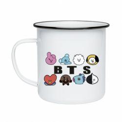 Кружка емальована Bts emoji