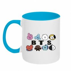 Кружка двоколірна 320ml Bts emoji