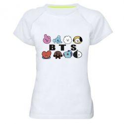 Жіноча спортивна футболка Bts emoji
