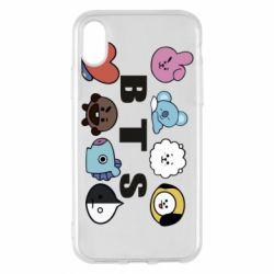 Чохол для iPhone X/Xs Bts emoji