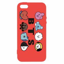 Чохол для iphone 5/5S/SE Bts emoji
