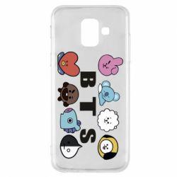 Чохол для Samsung A6 2018 Bts emoji
