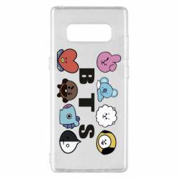 Чохол для Samsung Note 8 Bts emoji