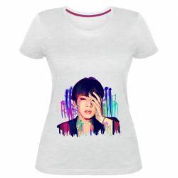 Женская стрейчевая футболка Bts Jin