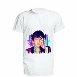 Удлиненная футболка Bts Jin
