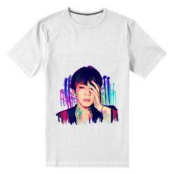 Мужская стрейчевая футболка Bts Jin