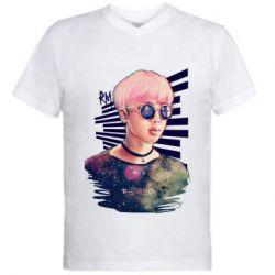 Чоловіча футболка з V-подібним вирізом Bts Kim