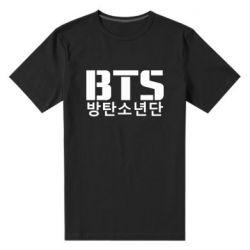 Мужская стрейчевая футболка Bts logo