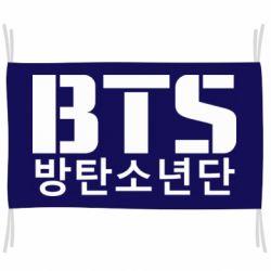 Флаг Bts logo