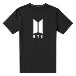 Мужская стрейчевая футболка BTS logotype
