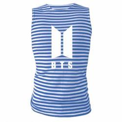 Майка-тельняшка BTS logotype