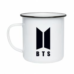 Кружка эмалированная BTS logotype