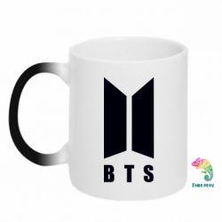 Кружка-хамелеон BTS logotype
