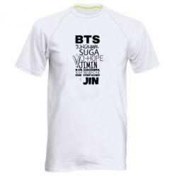 Чоловіча спортивна футболка BTS names of participants