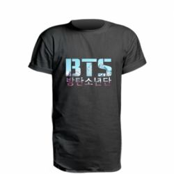 Удлиненная футболка Bts the mountains
