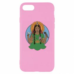 Чехол для iPhone 8 Buddha pop girl