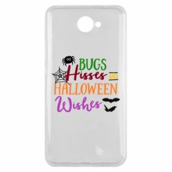 Чехол для Huawei Y7 2017 Bugs Hisses and Halloween Wishes - FatLine