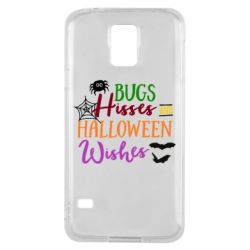 Чохол для Samsung S5 Bugs Hisses and Halloween Wishes