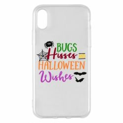 Чохол для iPhone X/Xs Bugs Hisses and Halloween Wishes