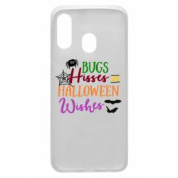 Чохол для Samsung A40 Bugs Hisses and Halloween Wishes