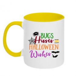Кружка двухцветная Bugs Hisses and Halloween Wishes - FatLine