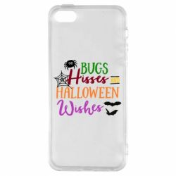 Чехол для iPhone5/5S/SE Bugs Hisses and Halloween Wishes - FatLine