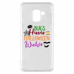 Чохол для Samsung A8 2018 Bugs Hisses and Halloween Wishes