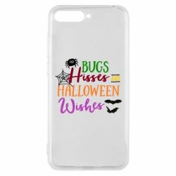 Чехол для Huawei Y6 2018 Bugs Hisses and Halloween Wishes - FatLine