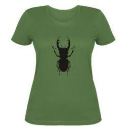 Женская футболка Bugs silhouette