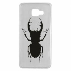 Чехол для Samsung A7 2016 Bugs silhouette