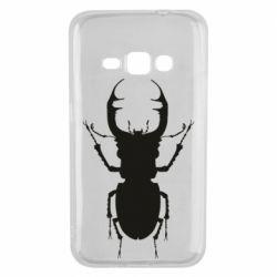 Чехол для Samsung J1 2016 Bugs silhouette