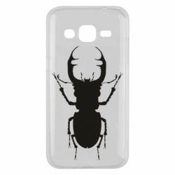 Чехол для Samsung J2 2015 Bugs silhouette