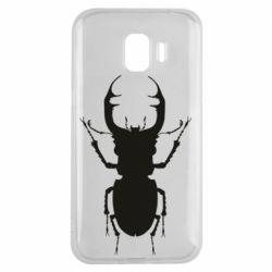 Чехол для Samsung J2 2018 Bugs silhouette