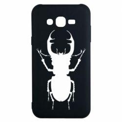 Чехол для Samsung J7 2015 Bugs silhouette