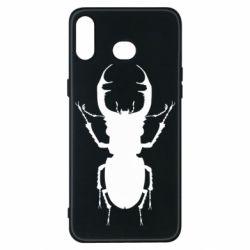 Чехол для Samsung A6s Bugs silhouette